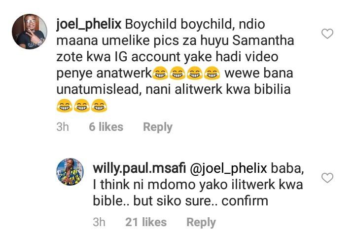 Willy Paul insults fan on IG